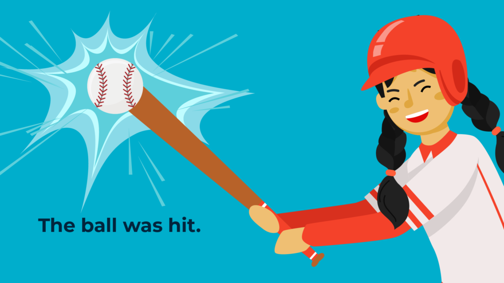 the baseball was hit.